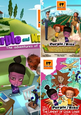 Purple and Nine Comic Books